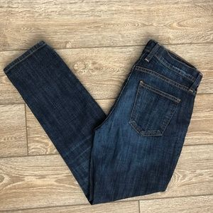 Current/Elliot Relaxed Ankle Dark Wash Jeans